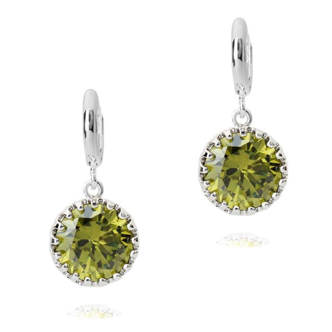 Picture of Dangel Earrings - Green Zircon Crystal