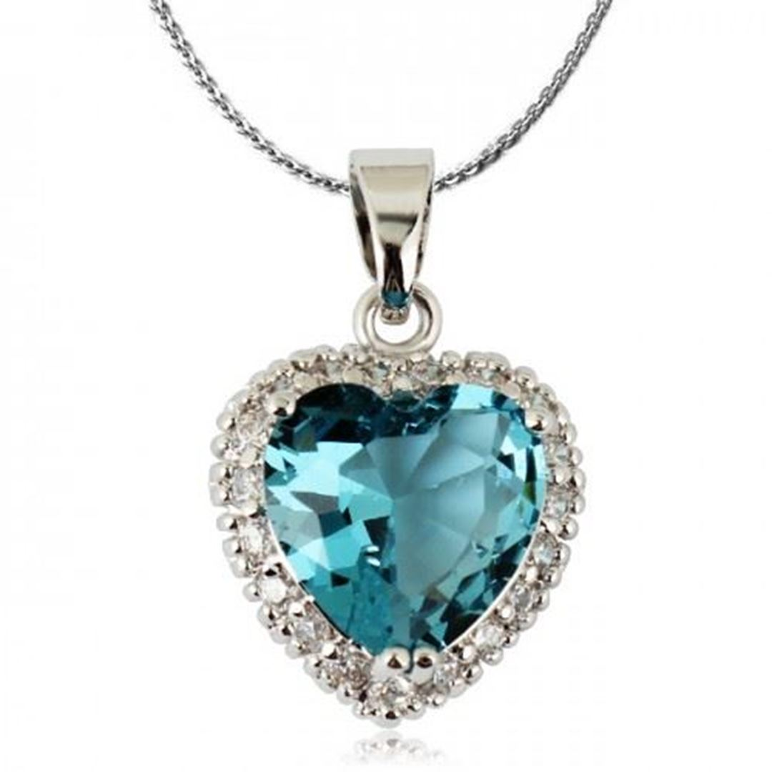 Best elements jewelry all product tags heart shaped crystal picture of heart shaped crystal pendant necklace blue zircon crystal aloadofball Gallery