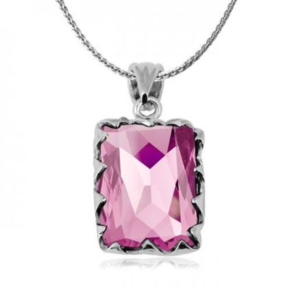 Picture of Zircon Crystal Pendant Necklace - Pink Zircon Crystal